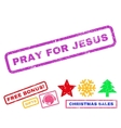 Pray For Jesus Rubber Stamp vector image