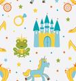 Princess frog pattern vector image