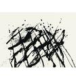 Splatter Black Ink Construction Background vector image