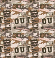 Urban camouflage seamless pattern vector image