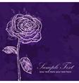 Valentine flower grunge invitation love card vector image