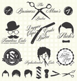 Vintage Barber Shop Labels vector image