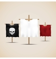 Set of ancient flags vector image vector image