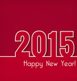 2015 Happy New Year design over red background vector image