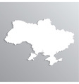 3d map of Ukraine vector image