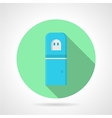 Blue water cooler green round icon vector image