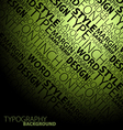 typography background vector image