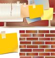 wall board and stickers vector image vector image