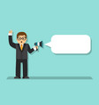 businessman talking in a megaphone vector image