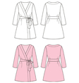 Dressing gown vector image