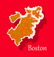 map of boston city sticker vector image