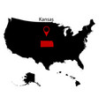 map of the us state of kansas vector image