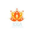 orange creative yoga lotus logo vector image
