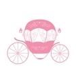 Pink Princess Cinderella Fairytale carriage vector image
