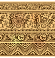Seamless pattern of African primitive art old vector image