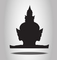 Thai Giant Silhouettes on the white background vector image