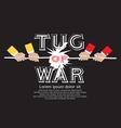 Tug Of War EPS10 vector image