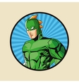 Superhero man cartoon design vector image