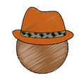 man with hat icon vector image