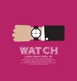 Wristwatch EPS10 vector image