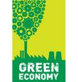 green economy vector image
