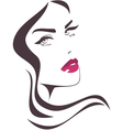 Beautiful girl face vector image vector image