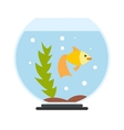 Aquarium flat icon vector image