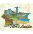 rio de janeiro doodles vector image vector image