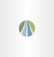 auto road icon highway logo vector image