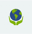 eco-friendly concept planet in hands vector image