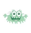 Funny Smiling Germ Blue Cartoon Character vector image