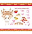 japanese food-original hand drawn set vector image