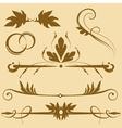 leafy design elements vector image