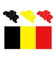 map belgium vector image