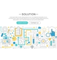 modern line flat design Solution concept vector image