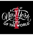 New York first city vector image