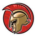 Spartan warrior head vector image
