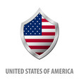 united states of america usa flag on metal shiny vector image
