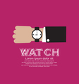 Wristwatch EPS10 vector image