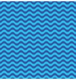 Blue sea waves seamless pattern vector image vector image