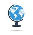 Flat school globe icon vector image