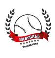 baseball club emblem icon vector image