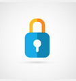 flat icon of padlock vector image