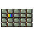 realistic retro tv on white background vector image vector image