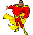 Big Chined Superhero vector image