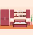 elegant bedroom interior with furniture vector image