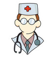 Cartoon image of doctor icon physician symbol vector image