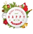 Christmas label with type design vector image