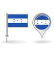 Honduras pin icon and map pointer flag vector image