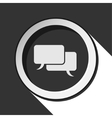 black icon - speech bubbles with shadow vector image